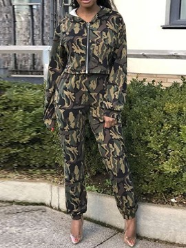 Ericdress Camouflage Pencil Pants Two Piece Sets