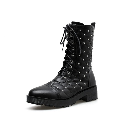 Ericdress Plain Side Zipper Round Toe Women's Martin Boots