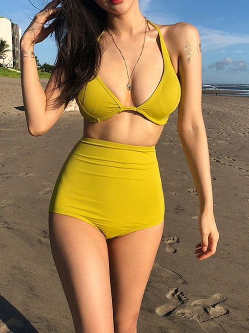 Ericdress One Piece Sexy Plain Women's Swimwear