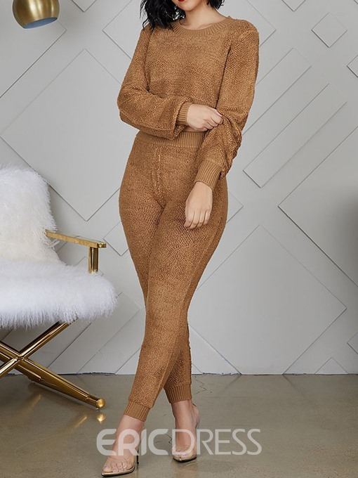 Ericdress Ankle Length Plain Pullover Two Piece Sets