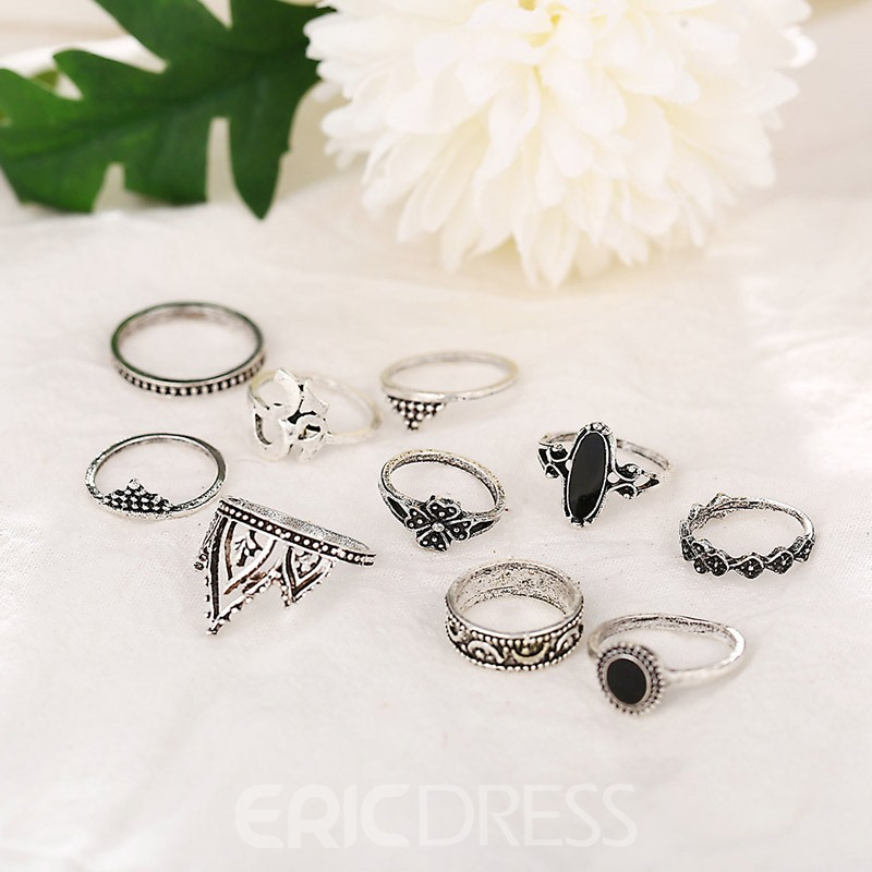 Ericdress Alloy E-Plating Anniversary Rings