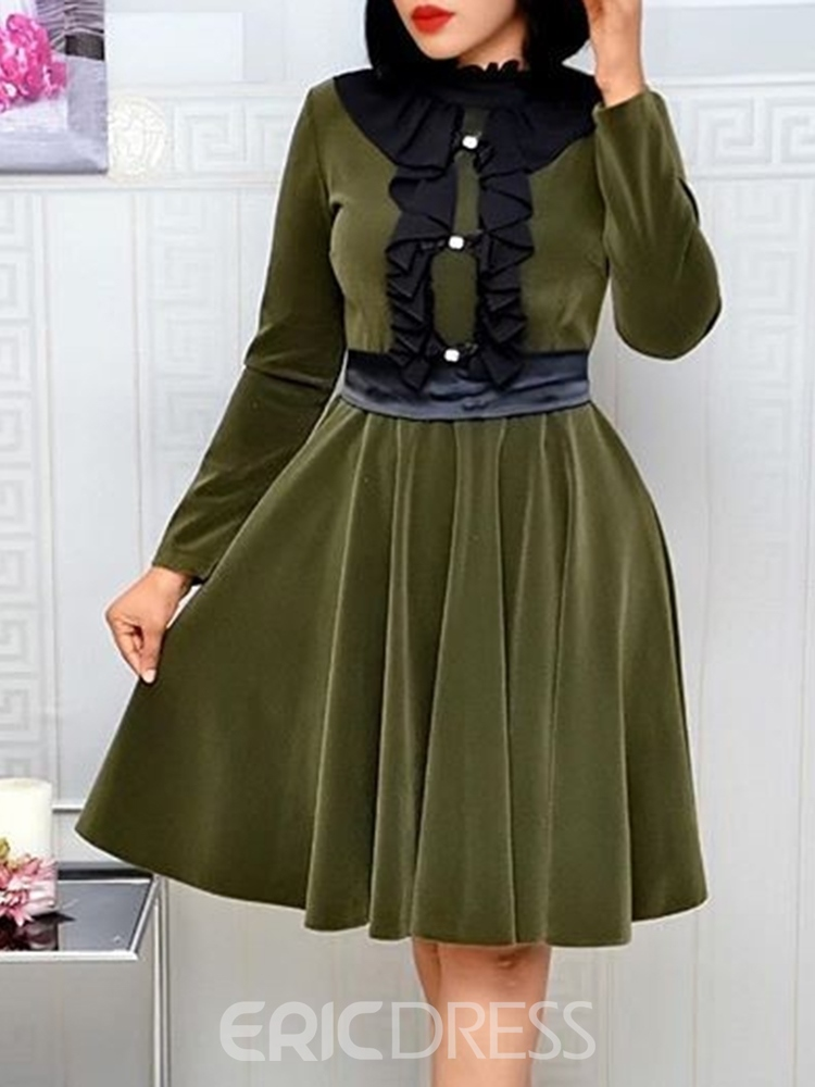 ericdress longueur genou neuf manches manches robe standard une ligne
