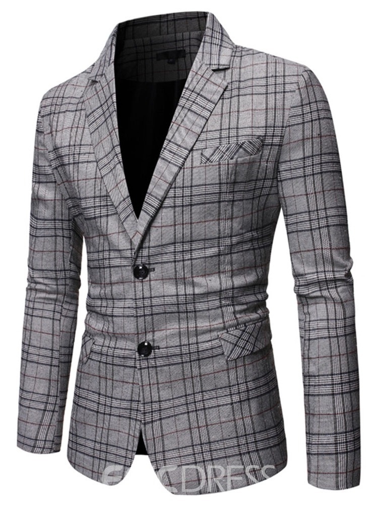 Ericdress Print Slim Casual Men's Leisure Blazers