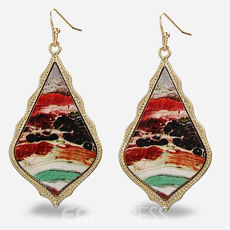 Ericdress Oil Drip Vintage Prom Earrings