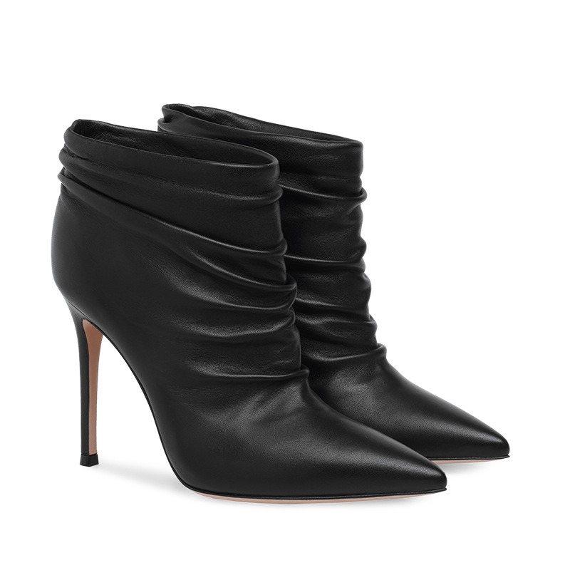 Ericdress Pointed Toe Plain Stiletto Heel Simple Women's Ankle Boots