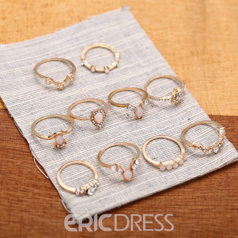 Ericdress Romantic Alloy Anniversary Rings