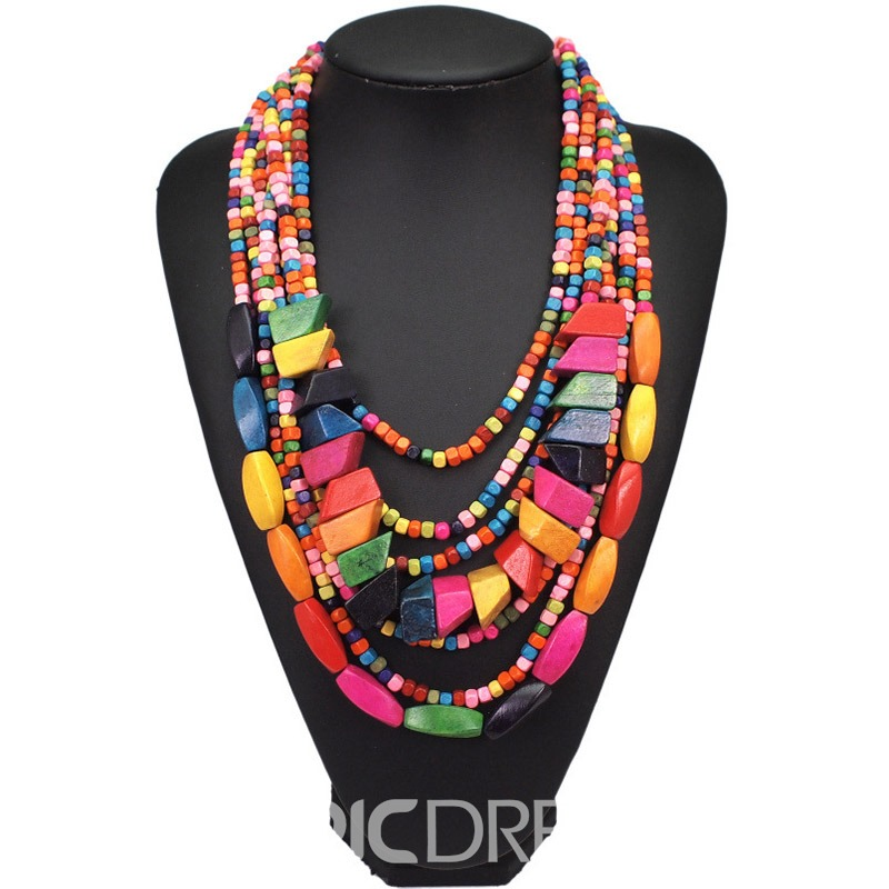 Ericdress Ethnic Color Block Female Necklaces