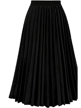 Ericdress Mid-Calf Patchwork Plain Skirt