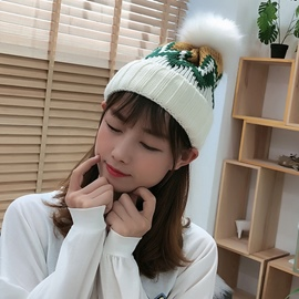 Ericdress Pompon Casual Color Block Winter Hats