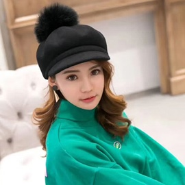 Ericdress Wool Baseball Cap Winter Plain Hats