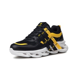 Ericdress Patchwork Round Toe Lace-Up Men's Outdoor Sneakers