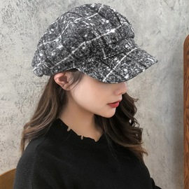 Ericdress Wool Blends Korean Winter Plaid Hats