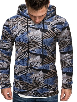 Ericdress Pullover Fleece Color Block Men's Hoodies