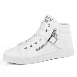 Ericdress High-Cut Upper Lace-Up Color Block Round Toe Men's Skate Shoes