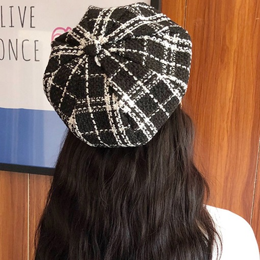 Ericdress Wool Blends Brimless Winter Plaid Hats