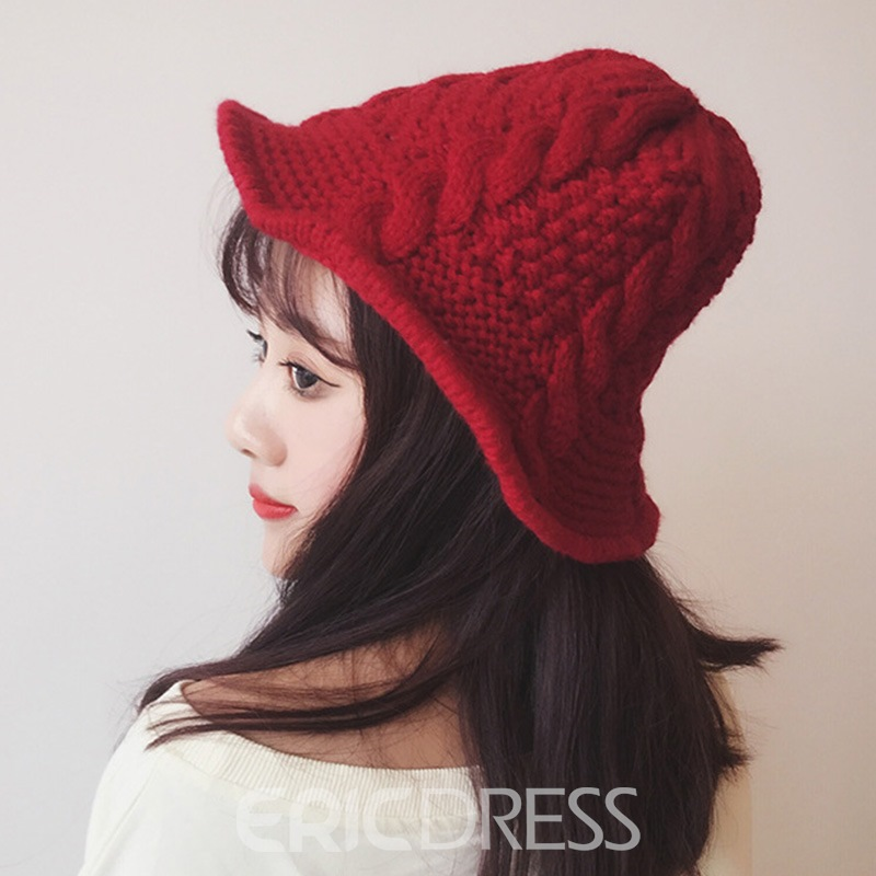 Ericdress Casual Knitted Hat Spring Plain Hats