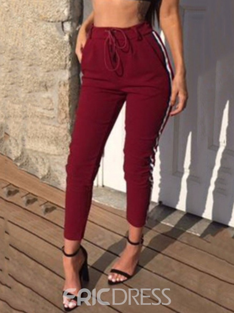 Ericdress Color Block Skinny Pencil Pants Ankle Length Casual Pants