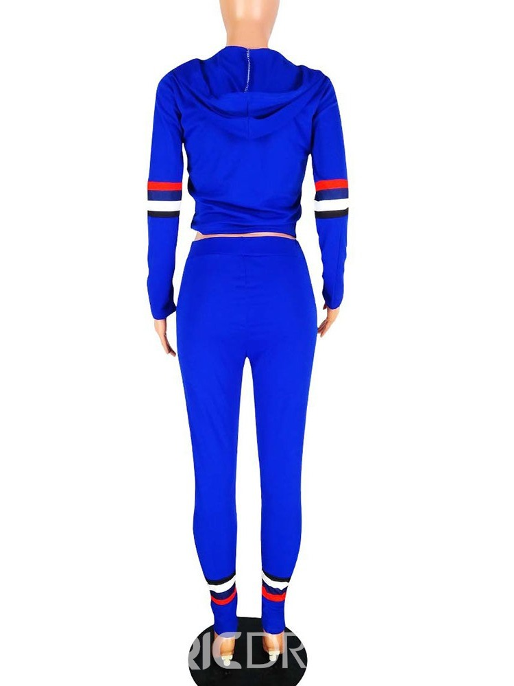 Ericdress T-Shirt Color Block Pullover Two Piece Sets