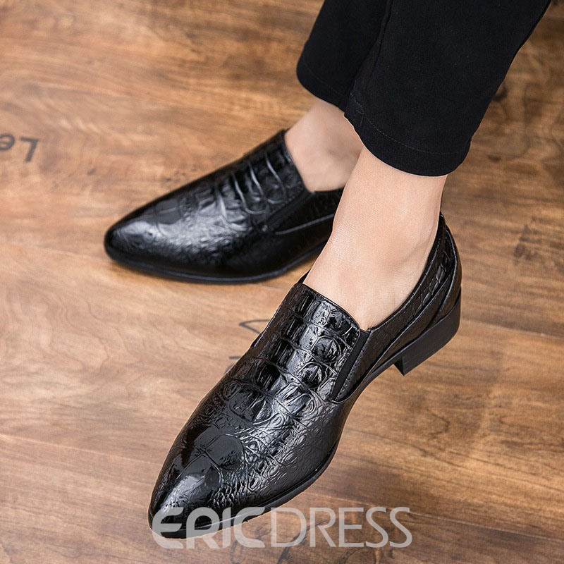 Ericdress Low-Cut Upper Slip-On Pointed Toe Men's Dress Shoes