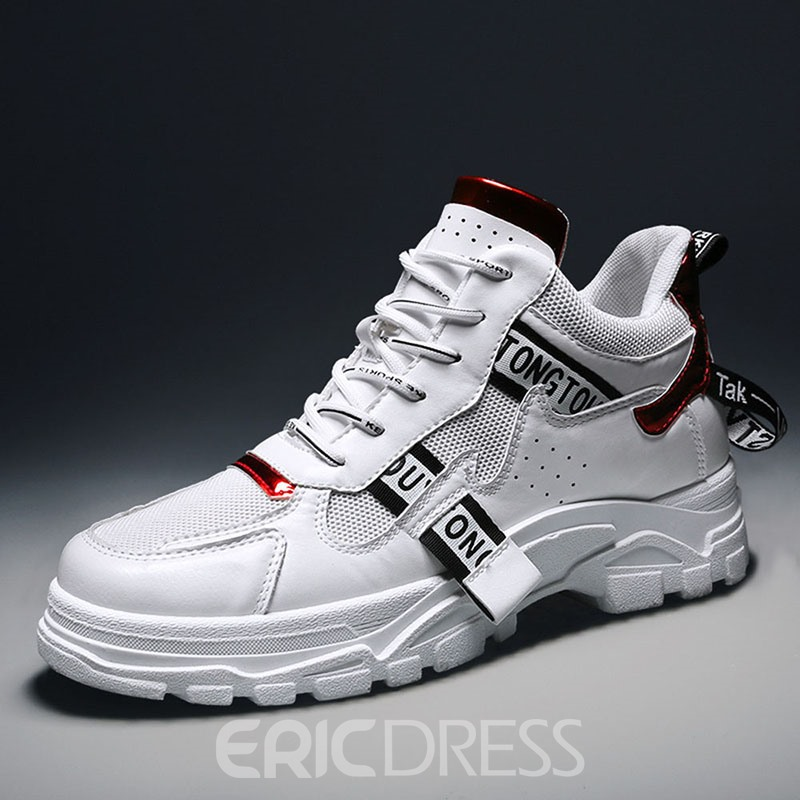 Ericdress Sports Lace-Up Round Toe Men's Sneakers