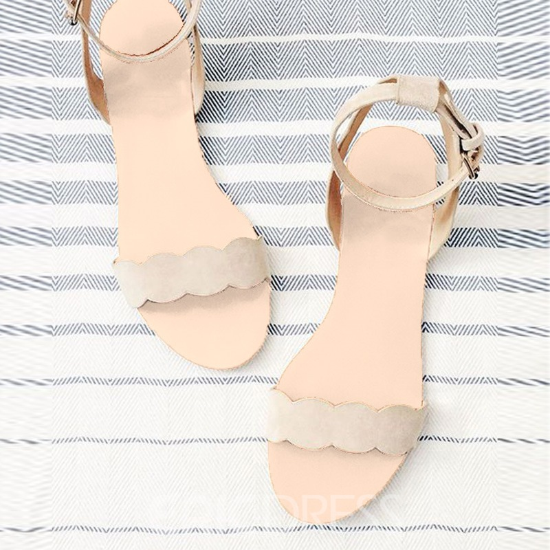 Ericdress New Simple Nude Flat Sandals