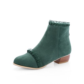 Ericdress Round Toe Plain Block Heel Women's Ankle Boots