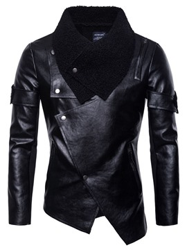 Ericdress Patchwork Plain Lapel European Zipper Men's Jacket