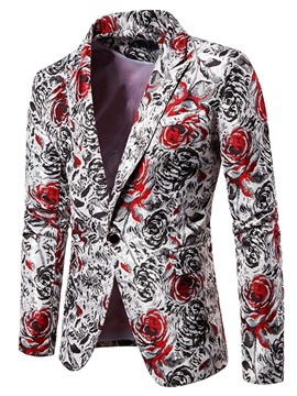 Ericdress Print Straight Notched Lapel Men's Leisure Blazers