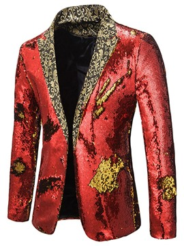 Ericdress Straight Sequins Notched Lapel Men's Leisure Blazers