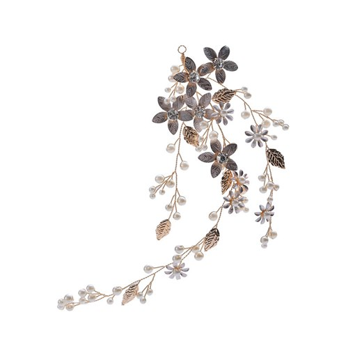 Floral Barrette Diamante Hair Accessories (Wedding)