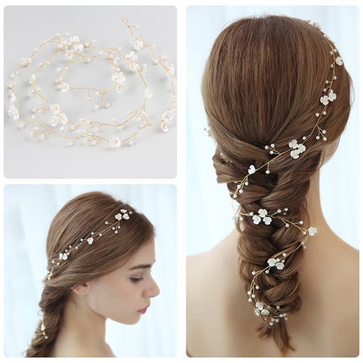 European Pearl Inlaid Barrette Hair Accessories (Wedding)