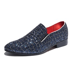 Ericdress Sequin Slip-On Color Block Men's Dress Shoes