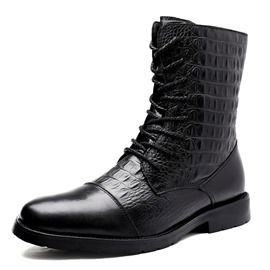 Ericdress Side Zipper Plain Round Toe Men's Boots
