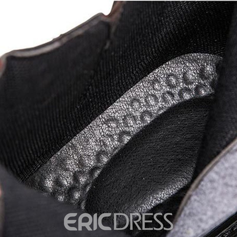 Ericdress Plain Side Zipper Round Toe Men's Snow Boots