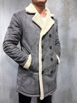 Ericdress Mid-Length Patchwork Color Block European Men's Coat