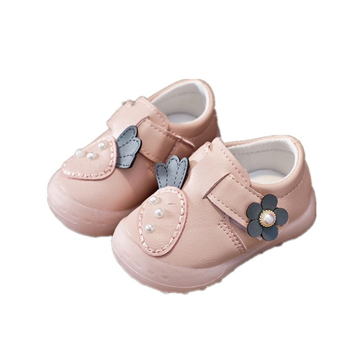 Ericdress PU Bead Velcro Toddler Shoes