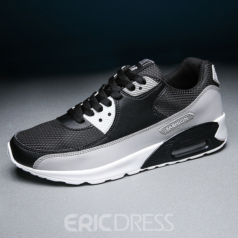 Ericdress PU Lace-Up Color Block Round Toe Men's Outdoor Sneakers