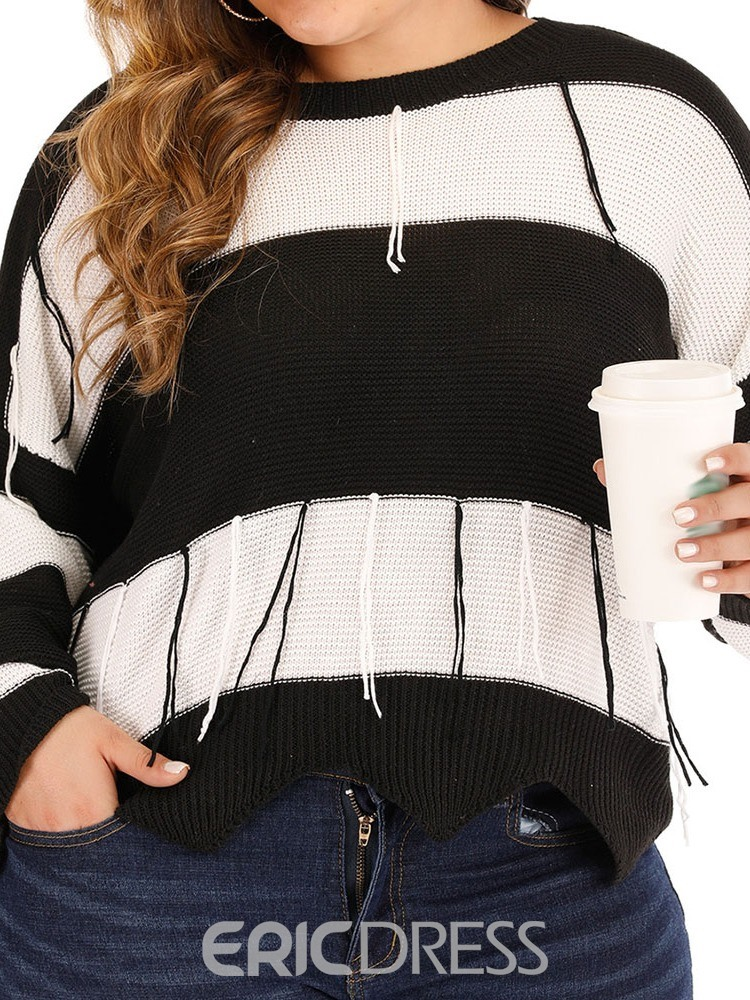 Ericdress Plus Size Thin Long Sleeve Fall Sweater