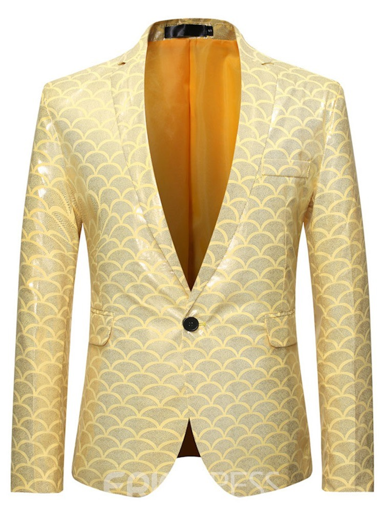 Ericdress Color Block Slim European Leisure Blazers