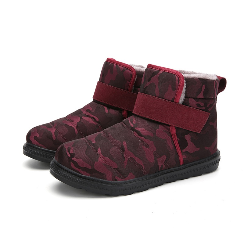 Ericdress Camouflage Round Toe Velcro Men's Winter Boots