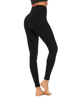 Ericdress Anti-Sweat Cotton Blends Solid Yoga Ankle LengthYoga Pants High Waist Tiktok Leggings