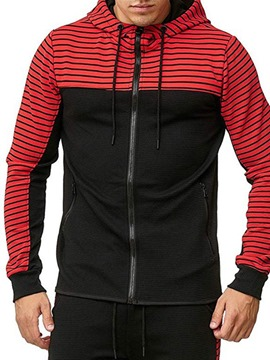 Ericdress Zipper Stripe Cardigan Casual Men's Hoodies