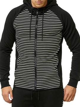 Ericdress Pocket Cardigan Stripe Casual Men's Hoodies