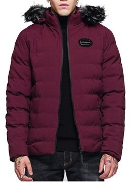 Ericdress Hooded Patchwork Color Block Zipper Men's Down Jacket