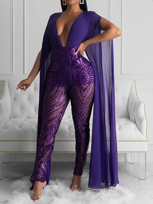 Ericdress Full Length Party/Cocktail Patchwork High Waist Jumpsuit