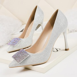 Ericdress Sequin Pointed Toe Slip-OnStiletto Heel Women's Pumps