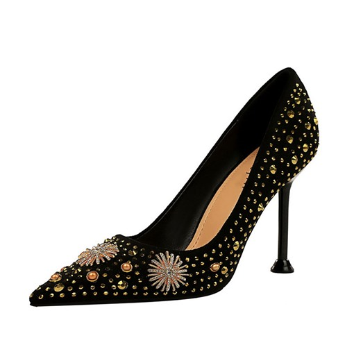 Ericdress Stiletto Heel Pointed Toe Rhinestone Plain Thin Shoes