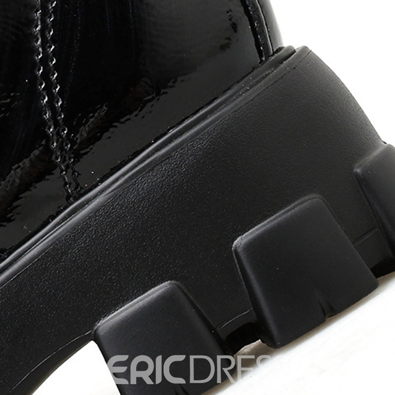 Ericdress PU Lace-Up Front Round Toe Women's Martin Boots