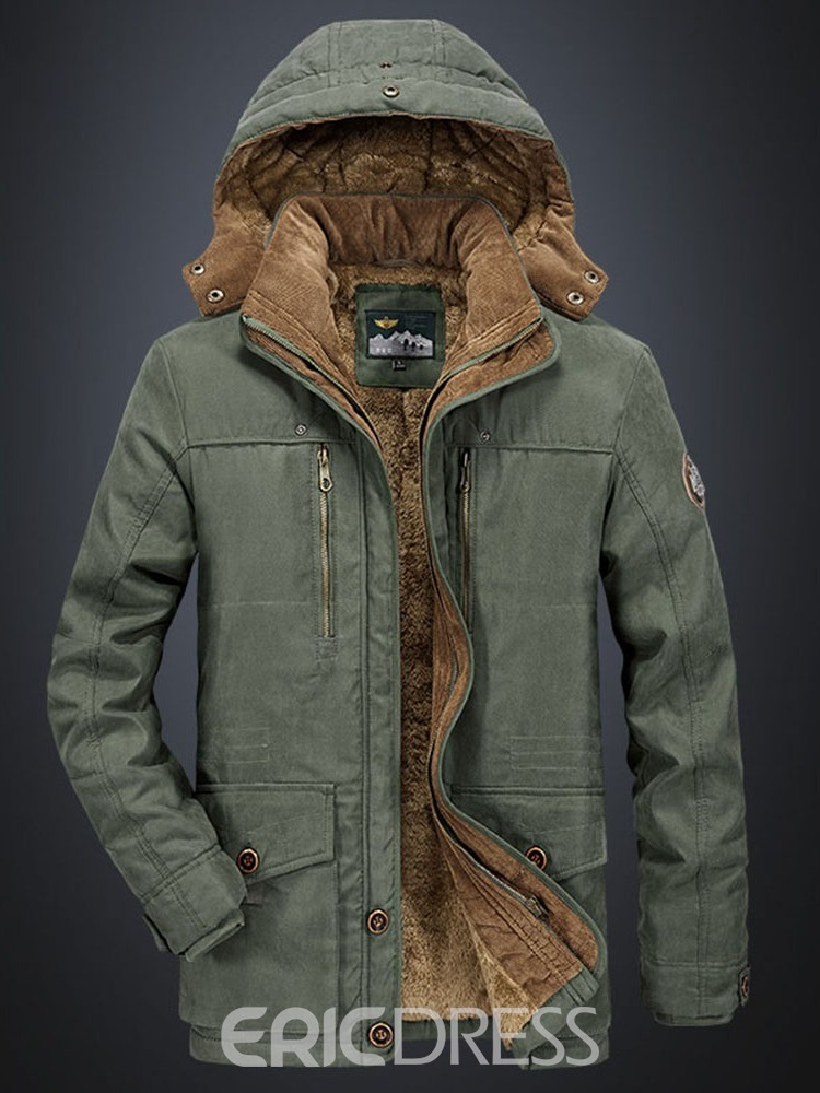 Ericdress Hooded Mid-Length Casual Down Jacket