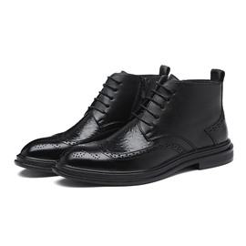 Ericdress PU Side Zipper Plain Round Toe Men's Boots